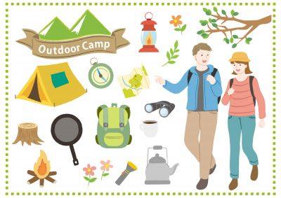 キャンプ 女性